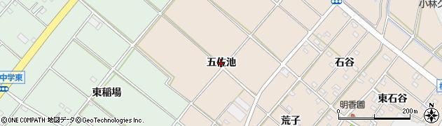愛知県安城市根崎町(五佐池)周辺の地図