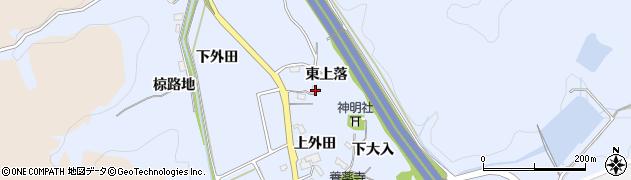 愛知県岡崎市池金町東上落周辺の地図