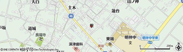 愛知県安城市東端町(里)周辺の地図