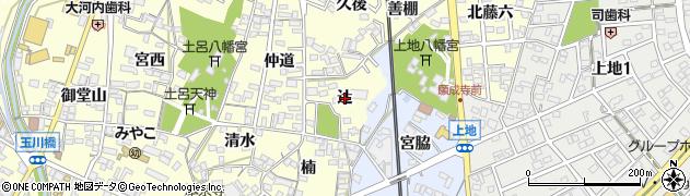 愛知県岡崎市福岡町(辻)周辺の地図