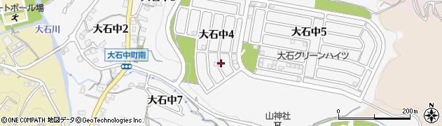 滋賀県大津市大石中周辺の地図