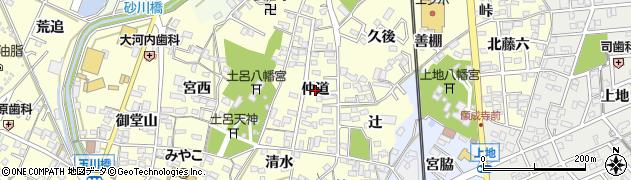 愛知県岡崎市福岡町(仲道)周辺の地図