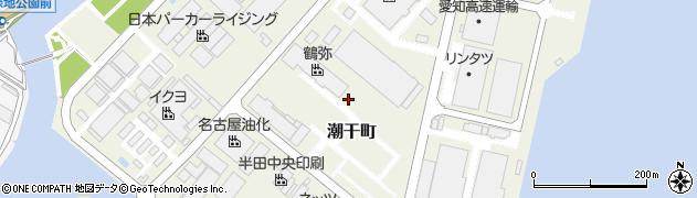 愛知県半田市潮干町周辺の地図