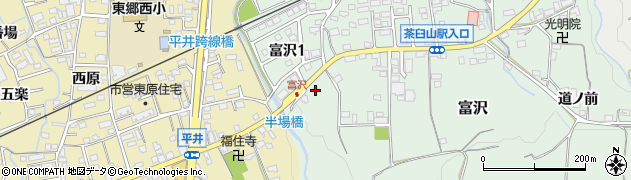 愛知県新城市富沢(久保田)周辺の地図
