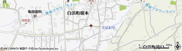 千葉県南房総市白浜町根本周辺の地図