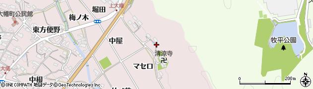 愛知県岡崎市大幡町(マセ口)周辺の地図
