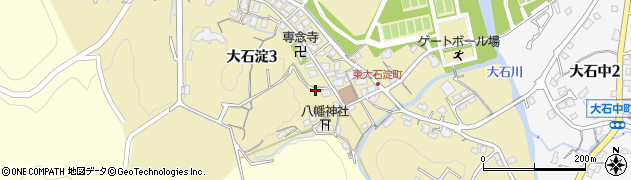 滋賀県大津市大石淀周辺の地図