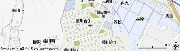 愛知県岡崎市藤川台周辺の地図