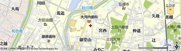 愛知県岡崎市福岡町(岩ケ崎)周辺の地図