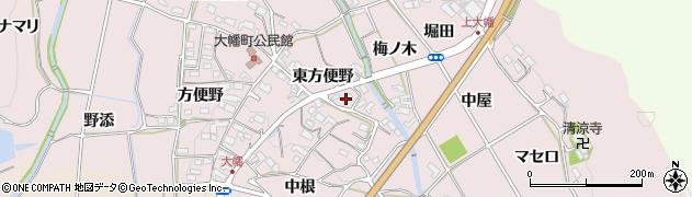 愛知県岡崎市大幡町(東方便野)周辺の地図