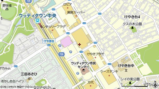 〒669-1321 兵庫県三田市けやき台の地図