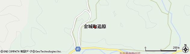 島根県浜田市金城町追原周辺の地図