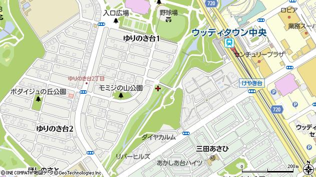 〒669-1324 兵庫県三田市ゆりのき台の地図
