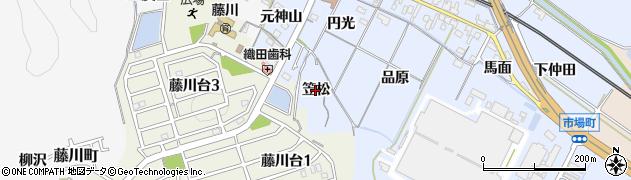愛知県岡崎市市場町(笠松)周辺の地図