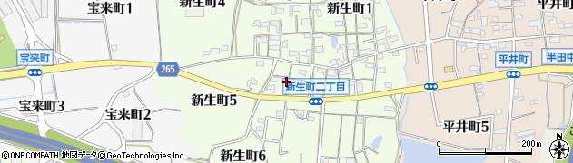 愛知県半田市新生町周辺の地図