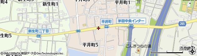 愛知県半田市平井町周辺の地図