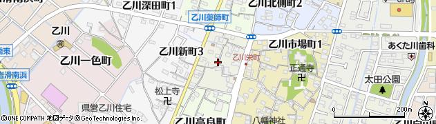 愛知県半田市乙川栄町周辺の地図