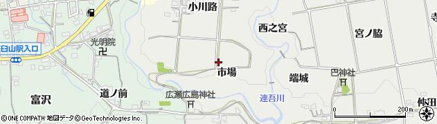 愛知県新城市川路(市場)周辺の地図