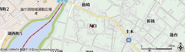 愛知県安城市東端町(天白)周辺の地図