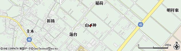 愛知県安城市東端町(山ノ神)周辺の地図