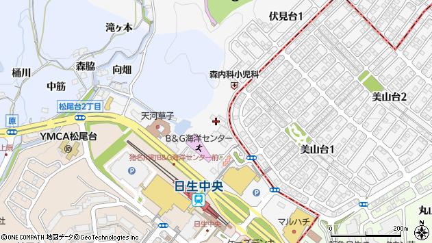 〒666-0262 兵庫県川辺郡猪名川町伏見台の地図
