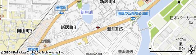 愛知県半田市新居町周辺の地図