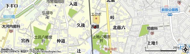 愛知県岡崎市福岡町(善棚)周辺の地図