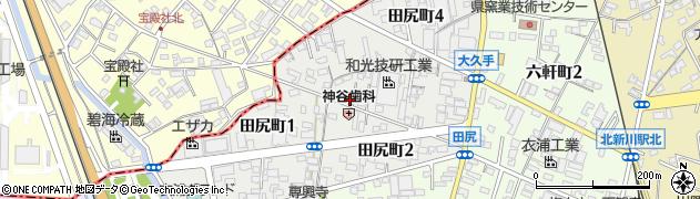 愛知県碧南市田尻町周辺の地図