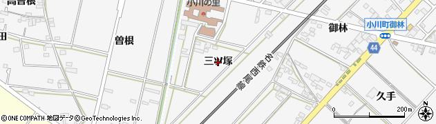 愛知県安城市小川町(三ツ塚)周辺の地図