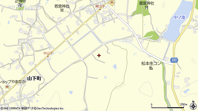〒675-2354 兵庫県加西市山下町の地図