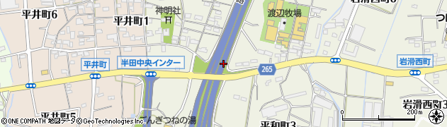愛知県半田市平和町周辺の地図