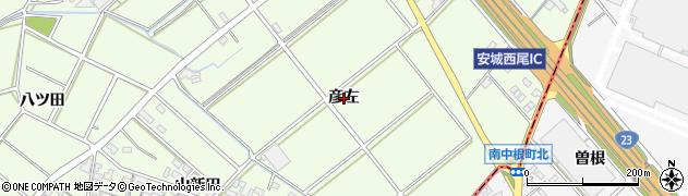 愛知県安城市城ケ入町(彦左)周辺の地図