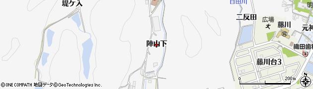愛知県岡崎市藤川町(陣山下)周辺の地図
