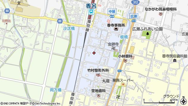〒679-2144 兵庫県姫路市香寺町中屋の地図