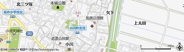 愛知県安城市小川町(南加美)周辺の地図