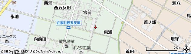 愛知県岡崎市在家町周辺の地図