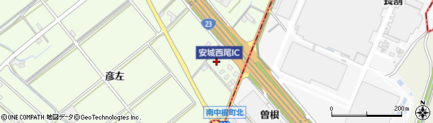 愛知県安城市城ケ入町(立出)周辺の地図