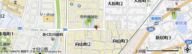 愛知県半田市向山町周辺の地図