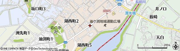 愛知県碧南市湖西町周辺の地図