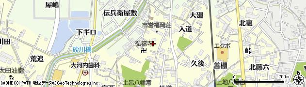 愛知県岡崎市福岡町(御坊山)周辺の地図