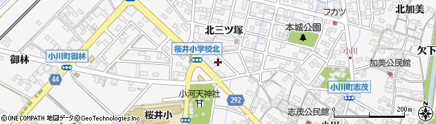 愛知県安城市小川町(三日三升)周辺の地図