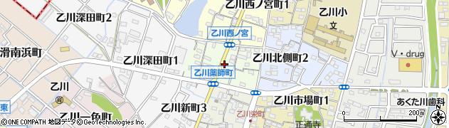 愛知県半田市乙川薬師町周辺の地図