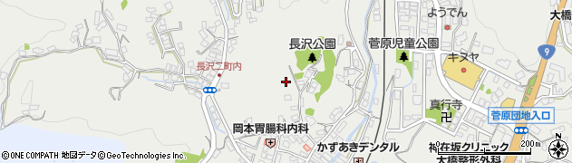 島根県浜田市長沢町周辺の地図