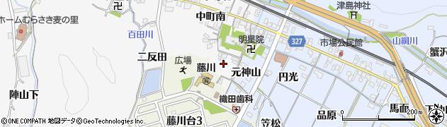 愛知県岡崎市藤川町(比丘尼山)周辺の地図