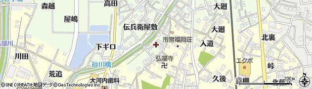 愛知県岡崎市若松町(山下)周辺の地図