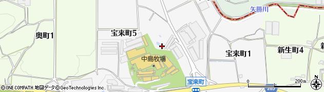 愛知県半田市宝来町周辺の地図