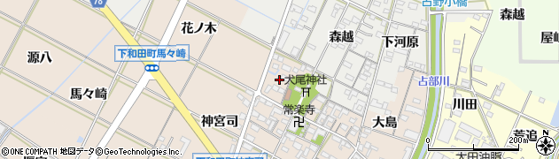 愛知県岡崎市下和田町(北浦)周辺の地図