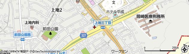 愛知県岡崎市上地周辺の地図