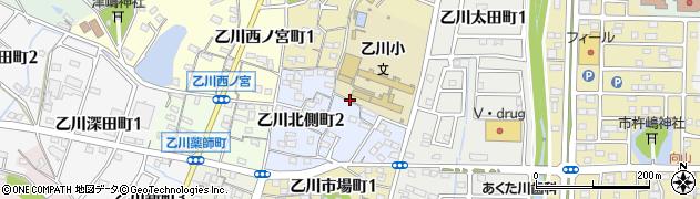 愛知県半田市乙川北側町周辺の地図