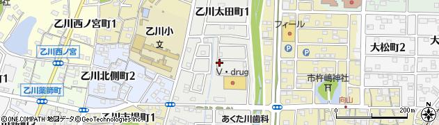 愛知県半田市乙川太田町周辺の地図